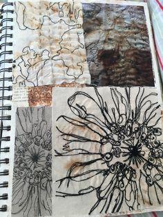 A Level Textiles Sketchbook, Sketchbook Layout, Gcse Art Sketchbook, Fashion Design Sketchbook, Sketchbook Inspiration, Sketchbook Ideas, Mondrian, Kunst Portfolio, Illustration