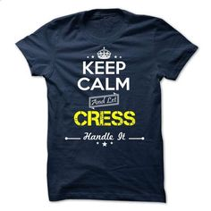 CRESS -Keep calm - #muscle tee #sweatshirt zipper. ORDER NOW => https://www.sunfrog.com/Valentines/-CRESS-Keep-calm.html?68278