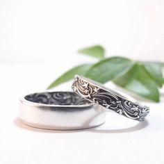 Mujeres banda de boda anillo de bodas de mujer Set Set hombres