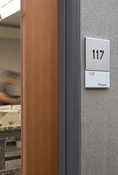 Heimbold Visual Arts Center room identification panel