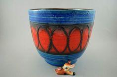 Vintage Blumentopf / Übertopf / Bay / Dekor Mekka | West German Pottery | 70er von ShabbRockRepublic auf Etsy