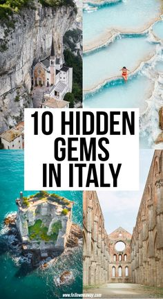 10 Magical Secret Spots And Hidden Gems In Italy : Enhance your Italy itnerary by adding some off the beaten path locations. These magical secret spots and hidden gems in Italy will a perfect for your trip. Things To Do In Italy, Places In Italy, Cool Places To Visit, Places To Travel, Travel Destinations, Italy Travel Tips, Greece Travel, Travel Guide, Reisen In Europa