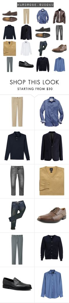 """""""Work Week Month January"""" by chumiller22 on Polyvore featuring Uniqlo, Joseph Abboud, Lands' End, Joseph, Acne Studios, Clarks, Altalana, Tod's, Bugatchi and men's fashion"""