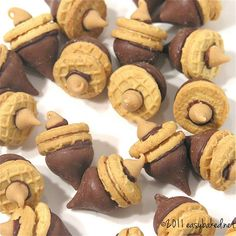 Acorn Cookies- A DIY idea for movie snacks at a backyard movie event by Southern Outdoor Cinema.