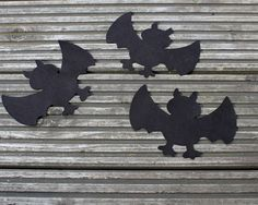 5 x Large Felt Bats 20cm wide for halloween crafts by scratchycat