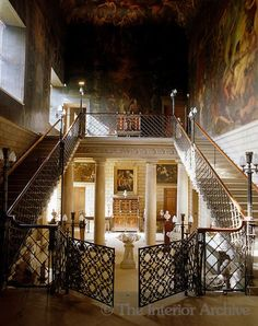 Burghley House: Grand Staircase with gates
