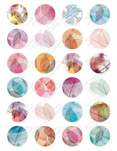 INSTANT DOWNLOAD  Transparent Leaves digital collage sheet - 48 unique foliage round images for all your crafting needs.  Circle sizes included: 20mm, 18mm, 16mm, 14mm, 12mm  Same design in 1 inch, 1.5, 1.25, 25mm, 30mm circles: https://www.etsy.com/listing/462149276  More Autumn/Fall/Leaves designs: http://etsy.me/2cp4Vug  ::::::::::::::::::::::::::::::::  For multiple purchases please use the DISCOUNT COUPON CODES:  15% off if your Item Total is ...