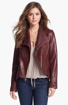 Elie Tahari 'Beverley' Leather Moto Jacket   Nordstrom
