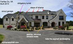 An architecture expert reveals 20 of the ugliest McMansions in America