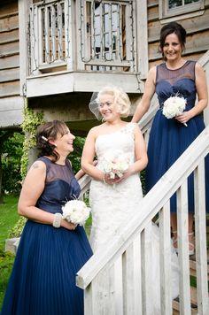 Ribby Hall Wedding. Navy 50's dresses. Blackpool, UK. CJGriffiths Photography