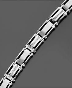 ) – Me… Men's Diamond Bracelet, Stainless Steel Diamond Bracelet ct. Mens Diamond Jewelry, Mens Diamond Bracelet, Bracelets For Men, Fashion Bracelets, Gents Bracelet, Bracelet Men, Macys Mens, Chains For Men, Silver Diamonds