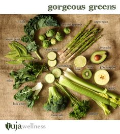 Gorgeous greens (fruit + veggies) #tujagram