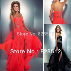 Find More Prom Dresses Information about Hot Sexy Long Prom Dress Open Back Halter Crystal Beaded Front Slit Chiffon Neon Colored Party Dress Custom Made ZY 271,High Quality dress vintage,China dress italian Suppliers, Cheap dress trails from Weddings&Events Store on Aliexpress.com