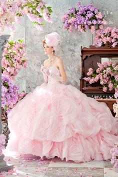 dball~dress ballgown, another Stella de Libero gown that I've  probably pinned more than once, but I just love the pink poufiness of it