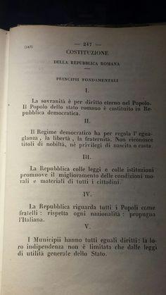 Costituzione della Repubblica romana principi fondamentali