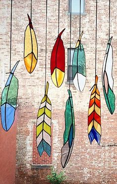 Stained Glass Feathers ♥