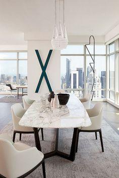 On vous présente la table en marbre! | Dining room | Pinterest ...