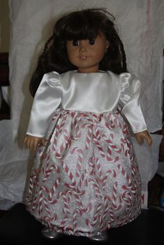 18 inch American girl doll Christmas Holiday White by sewlucky42, $20.00