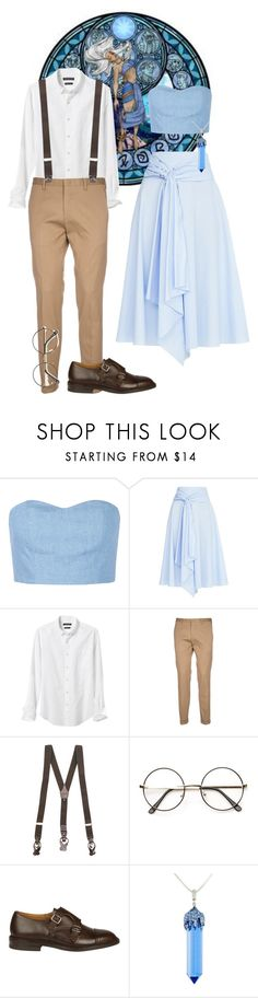 """""""The Lost City Of Atlantis - Milo & Kida"""" by ajenk200 ❤ liked on Polyvore featuring Disney, Julien David, FLOW the Label, Banana Republic, Paul Smith, Tagliatore, Tricker's and Simone I. Smith"""