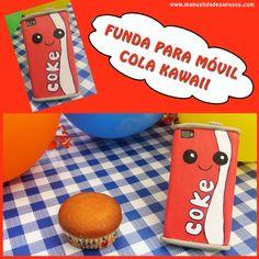 FUNDA PARA MÓVIL Cola Kawaii