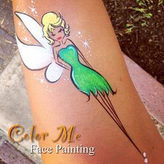 Tinker Bell Face Painting #tinkerbell #facepainting #colormefacepainting #disney #facepaint