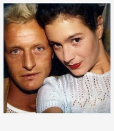 Polaroid snap of Rutger Hauer & Sean Young behind the scenes on #BladeRunner (1982)