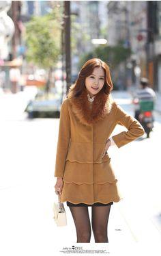 Best Winter Wool Coat Women-2014 New Korea Slim And Long Sections Woolen Coat OL Commuter Buckle Thick Coat of Dark Windbreaker Women Online with $43.36/Piece | DHgate