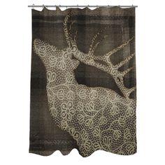 Thumbprintz Deer Elegance Shower Curtain