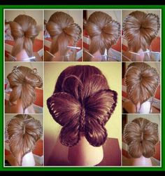DIY Butterfly Hair Tutorial hair beauty long hair updo how to diy hair hair tutorial hairstyles tutorials hair tutorials easy hairstyles Braided Hairstyles Tutorials, Pretty Hairstyles, Easy Hairstyles, Girl Hairstyles, Hairstyle Ideas, Hair Tutorials, Funny Hairstyles, Protective Hairstyles, Butterfly Braid