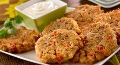 Seasoned Black Eyed Pea Fritters: Serve these crisp fritters at a New Yearandrsquo;s Eve party, as a side dish or a snack.
