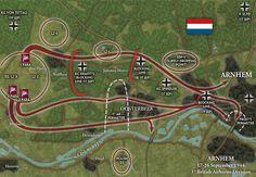 1st Airborne area of operations around Arnhem