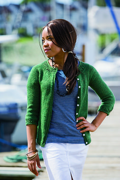 Cardigan with collar and cuff detail: Ravelry: Gemma pattern by Hilary Smith Callis