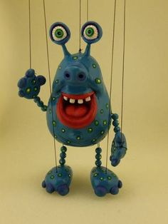monsters (marionettes) - POTTERY, CERAMICS, POLYMER CLAY