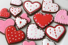 Valentine's season is one of my favorite times of year to make decorated cookies (second only to Christmas).  One thing I like about Valentine's cookies is that you can get away with just a simple shape (a heart) and three colors (red, white, and pink) and still make some really special cookies. For Valentine's cookies I often …