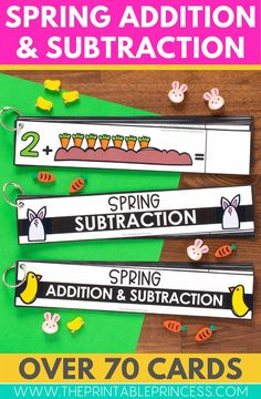 Fun spring-themed activities to strengthen and build their addition and subtraction skills. These activities are great for morning tubs, early finishers, or math centers.