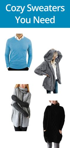 These sweaters are essential for keeping you warm and comfy this holiday season. Holiday Gift Guide, Holiday Gifts, Cozy Sweaters, Travel Essentials, Best Gifts, Comfy, Warm, Shopping, Xmas Presents