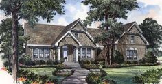 Craftsman House Plan with 1997 Square Feet and 2 Bedrooms from Dream Home Source | House Plan Code DHSW18389