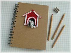 Felted Dog Notebook Needle Felt Dalmatian by Mythillogical on Etsy, £17.50 Via #Etsy