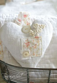Lavender Sachet-Rustic French Linen by timewashed on Etsy