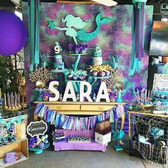 Isn't this Mermaid Medley Under the Sea birthday party the coolest? Loving the dessert table and the wonderful backdrop! See all 29 party photos by clicking our bio link. Credit: Monyca H.  . . #catchmyparty #partyideas #birthday #birthdayfun #birthdaygirl #Underthesea #kidsparty #partyplanning #Ariel #cupcakes #LittleMermaid #follow #desserttable #coralreef #party #follow #partyevents #instalove #twitter #cake #cakeart  #mermaid #mermaidlife #instastyle #instagood #love #style #magical