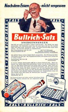 Bullrich - Salz - Werbung 30iger