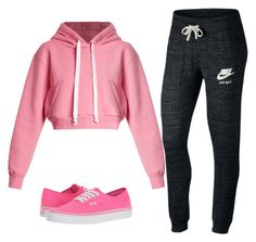 """""""Untitled #39"""" by asner-bond ❤ liked on Polyvore featuring Natasha Zinko, NIKE and Vans"""