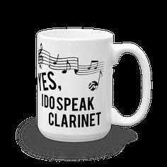 Reminisce the 'King of Swing' and his music with our Yes I Do Speak Clarinet Mug! Cool and unique ceramic guitar mug making it as one of the top and trending mu