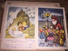 VINTAGE 2 GERMAN Christmas Post Cards SANTA CLAUS, Baby, Children  | eBay