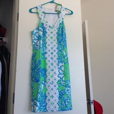 Lilly Pulitzer Go Go Green Shift dress Beautiful brand new Lilly Pulitzer Shift dress in Go Go Green. Never worn and still has attached tags. The dress ended up being too big for me and I'm heartbroken. Lilly Pulitzer Dresses