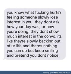 I know how this feels, it hurts more on both sides when you know what is happening so you kinda start loosing hope in whatever relationship it may be Quotes Deep Feelings, Hurt Quotes, Real Quotes, Mood Quotes, Life Quotes, Heartbreak Qoutes Hurt, Sad Relationship Quotes, Deep Sad Quotes, Sadness Quotes