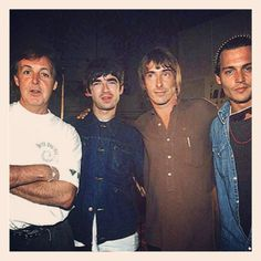 McCartney, Noel Gallagher, Paul Weller (The Mod Father!!) and Johnny Depp!!! Best pic ever!!!