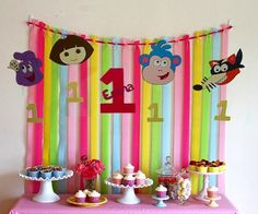 Handmade personalized hanging Dora The by PartiesByTristan on Etsy, $20.00