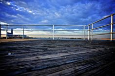 The 'end' of the Atlantic City Boardwalk  Maine and Caspian Avenues