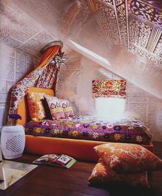 Bedroom in Tiny ranch house...and it's soundproofing.